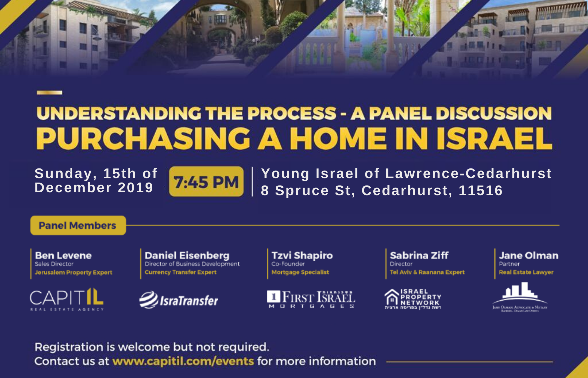 Young Israel of Lawrence, Cedarhurst Sun,Dec 15, 2019 7:45PM
