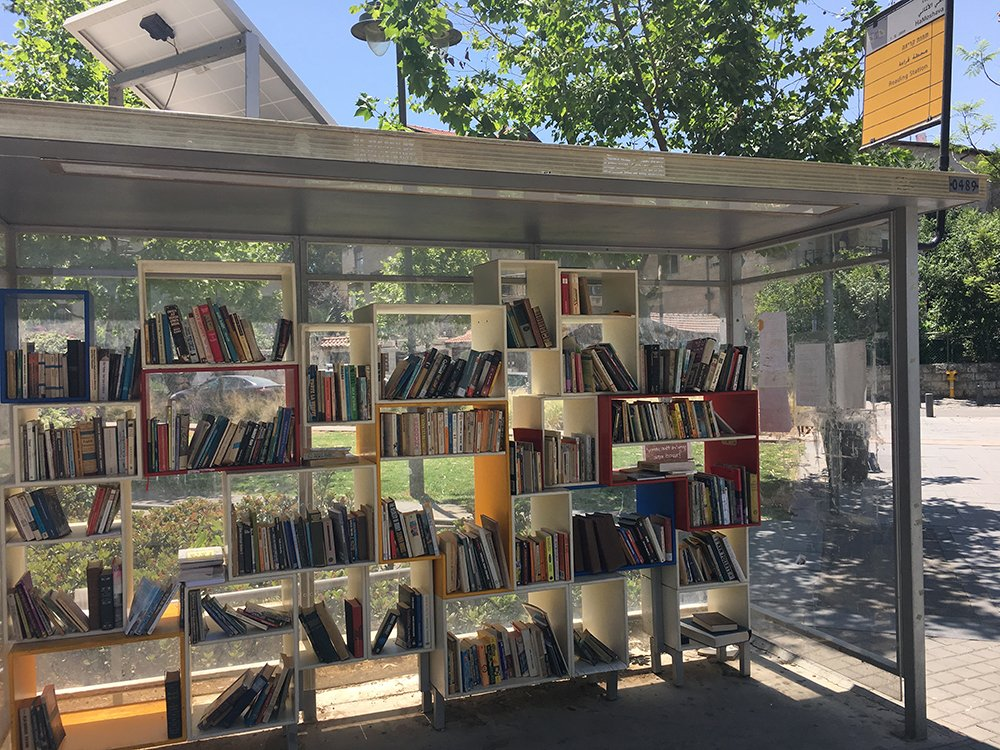 Book Station - Made from an old bus stop